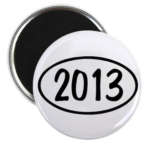 2013 Oval Magnet