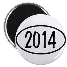 2014 Oval Magnet