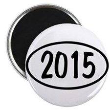 2015 Oval Magnet