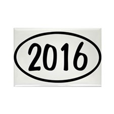 2016 Oval Rectangle Magnet