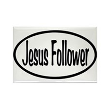 Jesus Follower Oval Rectangle Magnet