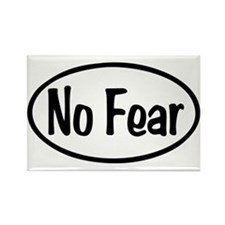 No Fear Oval Rectangle Magnet