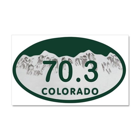 70.3 Colo License Plate Car Magnet 20 x 12
