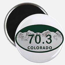 70.3 Colo License Plate Magnet