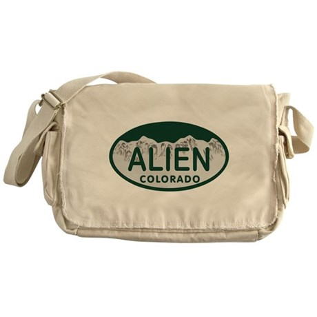 Alien Colo License Plate Messenger Bag
