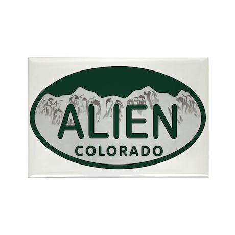 Alien Colo License Plate Rectangle Magnet