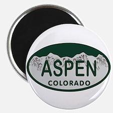Aspen Colo License Plate Magnet