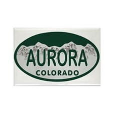 Aurora Colo License Plate Rectangle Magnet
