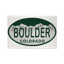 Boulder Colo License Plate Rectangle Magnet