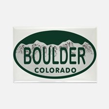 Boulder Colo License Plate Rectangle Magnet