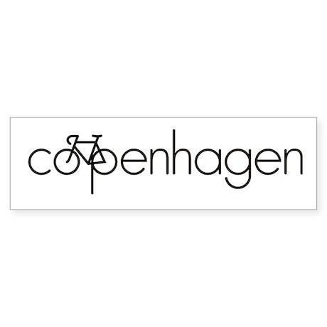Bike Copenhagen Sticker (Bumper)