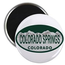 Colorado Springs Colo License Plate Magnet