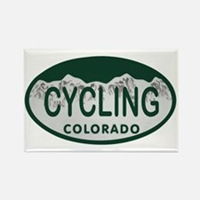 Cycling Colo License Plate Rectangle Magnet