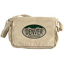 Denver Colo License Plate Messenger Bag