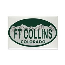 Ft Collins Colo License Plate Rectangle Magnet