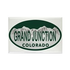 Grand Junction Colo License Plate Rectangle Magnet
