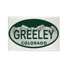 Greeley Colo License Plate Rectangle Magnet