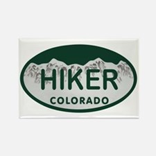 Hiker Colo License Plate Rectangle Magnet