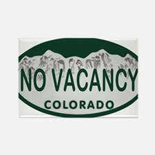 No Vacancy Colo License Plate Rectangle Magnet