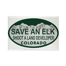 Save an Elk Colo License Plate Rectangle Magnet
