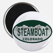Steamboat Colo License Plate Magnet