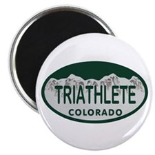 Triathlete Oval Colo License Plate Magnet