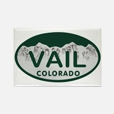 Vail Colo License Plate Rectangle Magnet