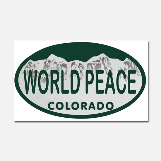 World Peace Colo License Plate Car Magnet 20 x 12