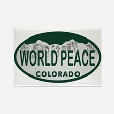 World Peace Colo License Plate Rectangle Magnet