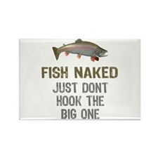 Fish Naked Rectangle Magnet