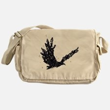 Flying CROW collage Messenger Bag
