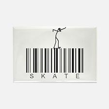 Bar Code Skate Rectangle Magnet