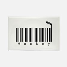 Bar Code Hockey Rectangle Magnet
