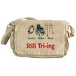 Still Tri-ing Messenger Bag