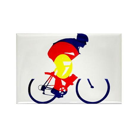 Colorado Cycling Rectangle Magnet