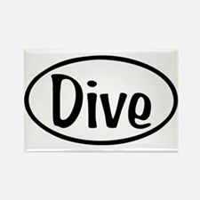 Dive Oval Rectangle Magnet