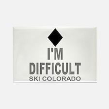 I'm Difficult Ski Colorado Rectangle Magnet