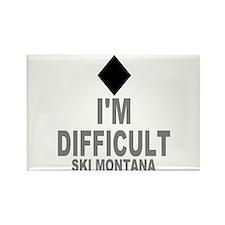 I'm Difficult ~ Ski Montana Rectangle Magnet