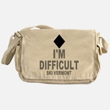 I'm Difficult ~ Ski Vermont Messenger Bag