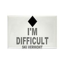 I'm Difficult ~ Ski Vermont Rectangle Magnet