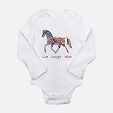 Rainbow horse gift Long Sleeve Infant Bodysuit