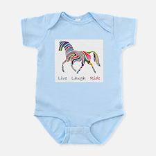Rainbow horse gift Infant Bodysuit