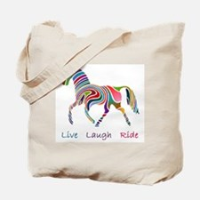 Rainbow horse gift Tote Bag