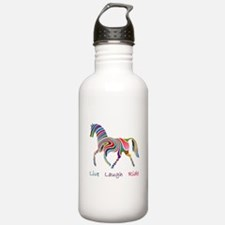 Rainbow horse gift Water Bottle