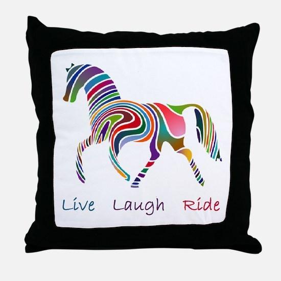 Rainbow horse gift Throw Pillow