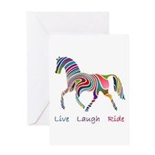 Rainbow horse gift Greeting Card