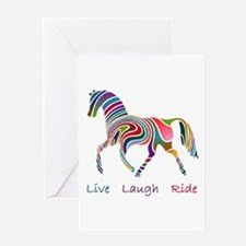 Rainbow horse gift Greeting Card