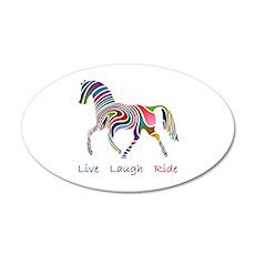 Rainbow horse gift 22x14 Oval Wall Peel
