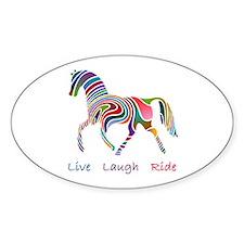 Rainbow horse gift Bumper Stickers