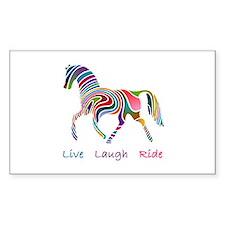 Rainbow horse gift Decal